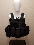 NEW Tactical Level IIIA Vest with QUICK RELEASE and Full MOLLE BLACK